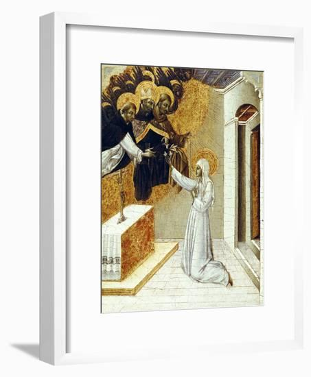 St. Catherine Invested with the Dominican Scapula- Giovanni di Paolo-Framed Giclee Print