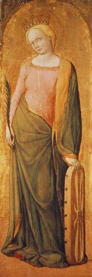 St. Catherine of Alexandria, 15th Century-Francesco de' Franceschi-Giclee Print