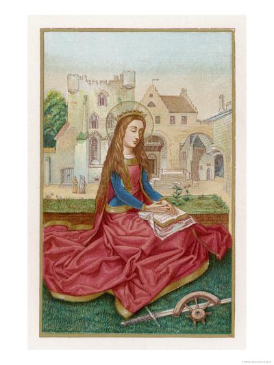 St. Catherine of Alexandria Virgin Martyr and Saint--Giclee Print