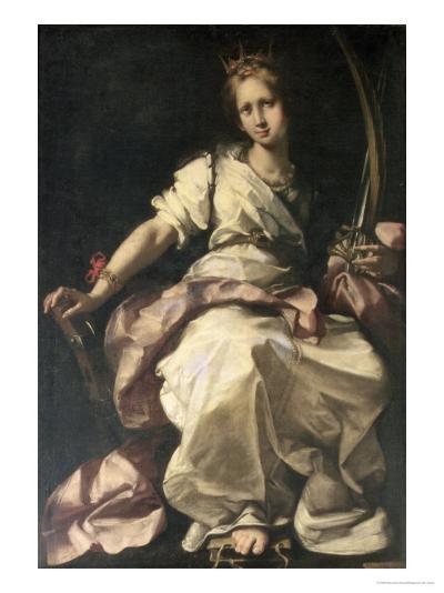 St. Catherine of Alexandria-Bernardo Strozzi-Giclee Print
