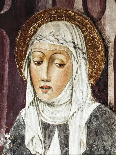 St Catherine of Siena, Detail from St Francis Church, Lodi, Italy--Giclee Print