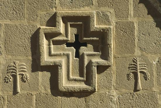 St Catherine's Monastery, Detail of Church Facade with Cross--Giclee Print