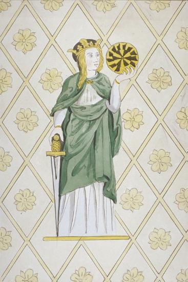 St Catherine, Stained Glass, Church of St Leonard, Heston, Middlesex, 1820--Giclee Print