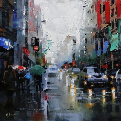 St. Catherine Street Rain-Mark Lague-Art Print