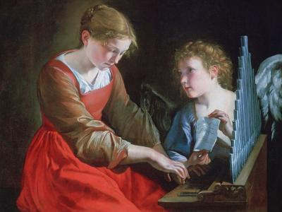 St Cecilia and an Angel, C1617-1618 and C1621-1627-Orazio Gentileschi-Giclee Print