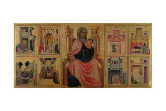 St. Cecilia and Scenes from Her Life, C.1304-Master of St^ Cecilia-Giclee Print