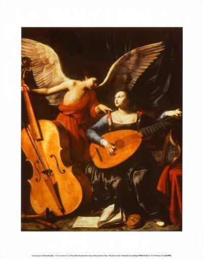 St. Cecilia and the Angel-Carlo Saraceni-Art Print