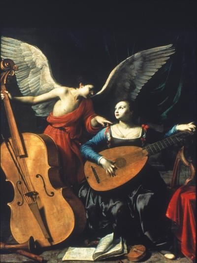 St. Cecilia And The Angel-Carlo Saraceni-Giclee Print