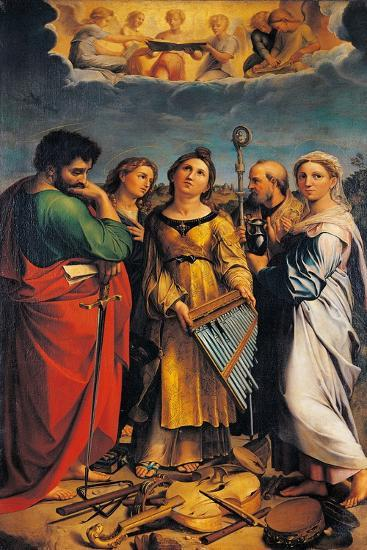 St Cecilia with Sts Paul- John the Evangelist-Giclee Print