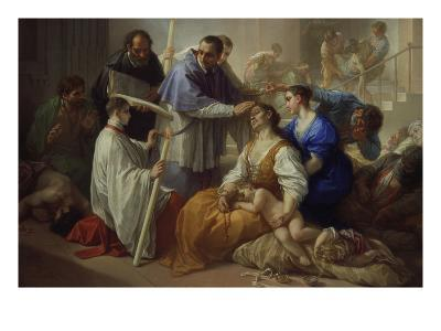 St. Charles Borromeo with Plague Victims, 1713-Benedetto Luti-Giclee Print
