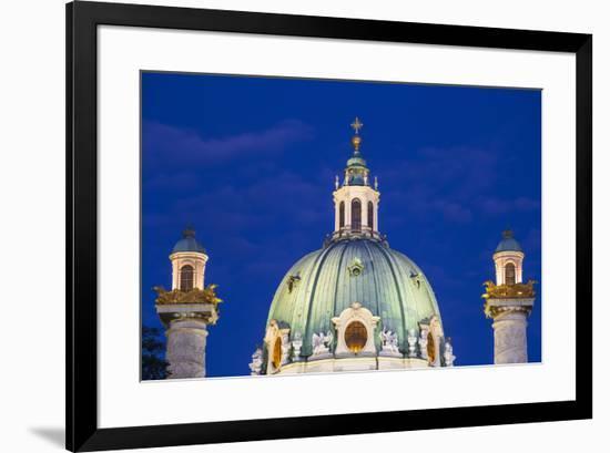 St. Charles Church (Karlskirche), Vienna, Austria, Europe-Jane Sweeney-Framed Photographic Print