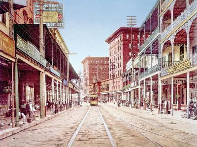 St. Charles Street in New Orleans, 1900--Photo