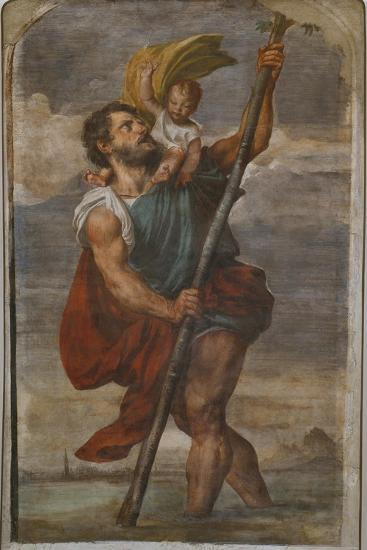 St. Christopher, 1523-24-Titian (Tiziano Vecelli)-Giclee Print
