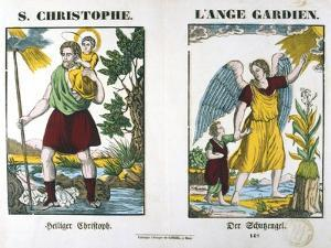 St Christopher and a Guardian Angel, 19th Century
