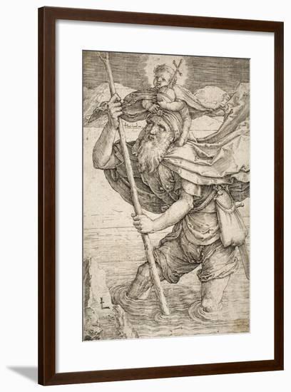 St. Christopher, C.1521-Lucas van Leyden-Framed Giclee Print