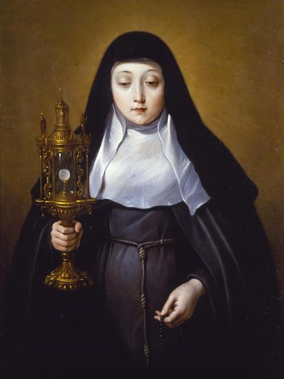 St Claire Holding a Monstrance with the Eucharist-Frans Luyckx Or Leux-Giclee Print