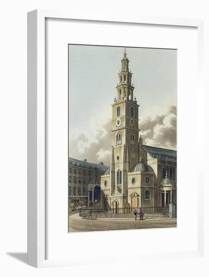 St. Clement Danes Church, Pub. by Rudolph Ackermann--Framed Giclee Print