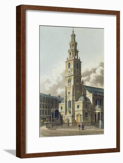 St. Clement Danes Church, Pub. by Rudolph Ackermann--Framed Giclee Print