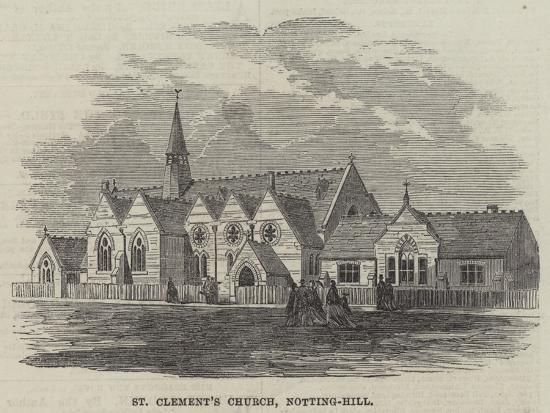 St Clement's Church, Notting-Hill--Giclee Print