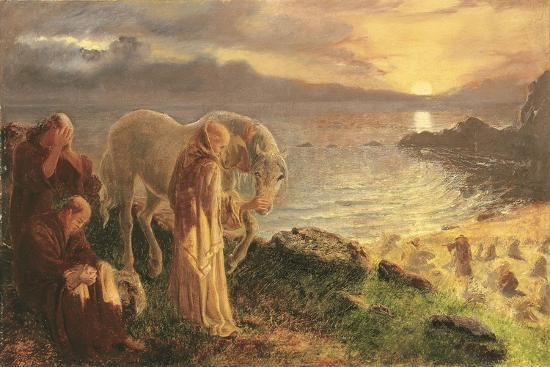 St Columba's Farewell to the White Horse, 1865-1868-Alice Boyd-Giclee Print