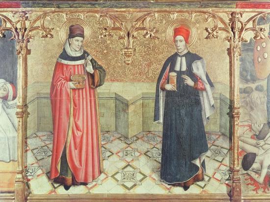 St. Cosmas and St. Damian-Jaume Huguet-Giclee Print