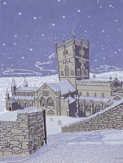 St. David's Cathedral in the Snow, 1996-Huw S. Parsons-Giclee Print