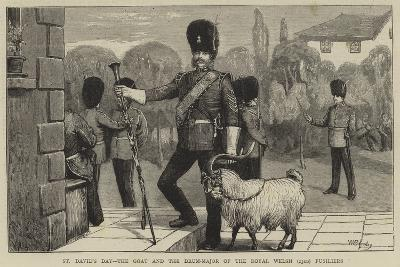 St David's Day, the Goat and the Drum-Major of the Royal Welsh (23Rd) Fusiliers-William III Bromley-Giclee Print