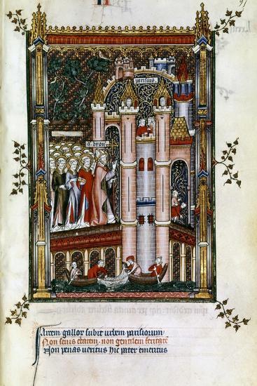 St Denis at the Gates of Paris, 1317--Giclee Print