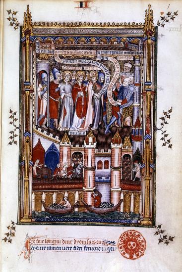 St Denis before Sisinnius, 1317--Giclee Print