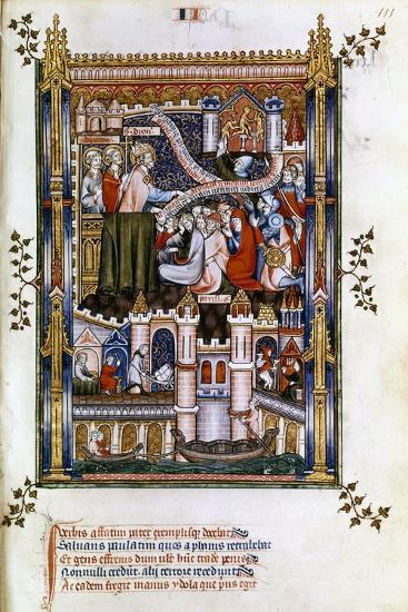 St Denis Preaching, 1317--Giclee Print