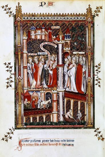 St Denis Sends Out Missionaries, 1317--Giclee Print