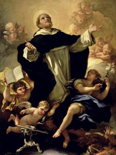 St. Dominic, 1170-1221-Luca Giordano-Giclee Print