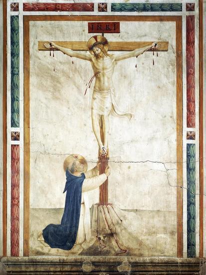 St Dominic Adoring Crucifix-Giovanni Da Fiesole-Giclee Print