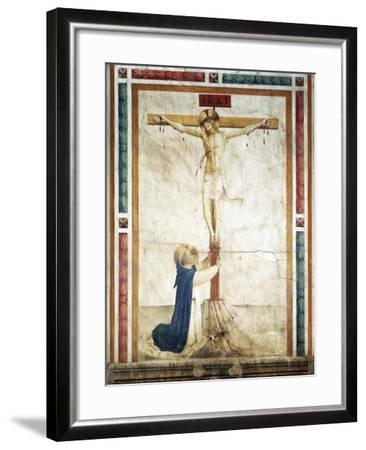 St Dominic Adoring Crucifix-Giovanni Da Fiesole-Framed Giclee Print