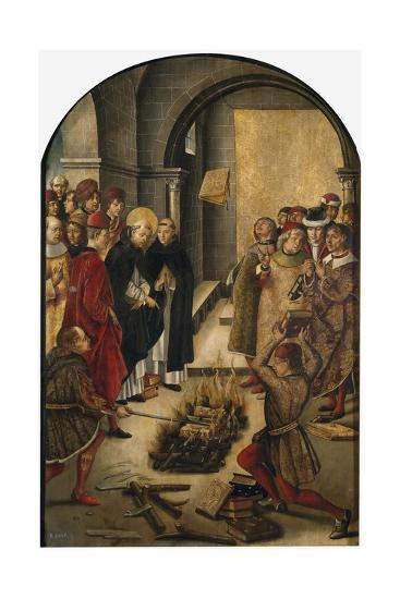St. Dominic de Guzman and the Albigensians, 1493-99-Pedro Berruguete-Giclee Print