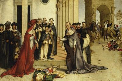 St Dominic Resurrecting Napoleone Orsini-Lorenzo Lotto-Giclee Print