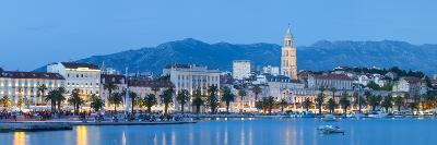 St. Domnius Cathedral Bell Tower and Stari Grad Illuminated, Split, Central Dalmatia, Croatia-Doug Pearson-Photographic Print