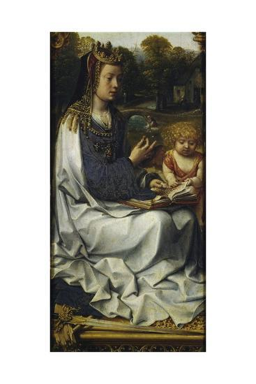 St Dorothy, Detail from Left Panel of Malvagna Triptych, Right-Hand Side, 1511-1515-Jan Gossaert-Giclee Print