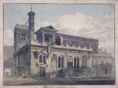 St Dunstan in the West, London, 1811-George Shepherd-Giclee Print