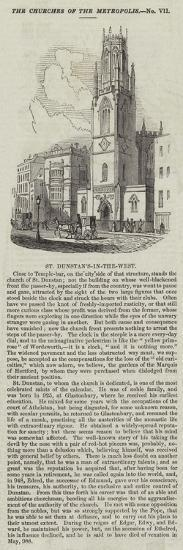 St Dunstan's-In-The-West--Giclee Print