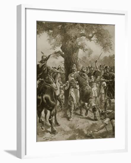 St. Edmund Slain by the Danes, 870 Ad-Henry Payne-Framed Giclee Print