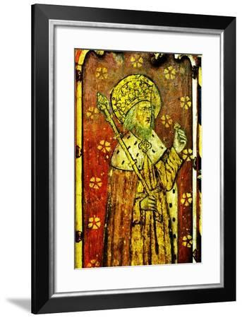 St Edward the Confessor, Detail of the Rood Screen, St Catherine's Church, Ludham, Norfolk, Uk--Framed Giclee Print