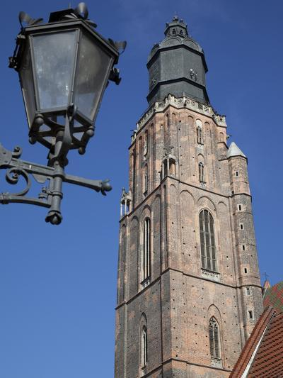 St. Elisabeth Church and Lamp, Old Town, Wroclaw, Silesia, Poland, Europe-Frank Fell-Photographic Print
