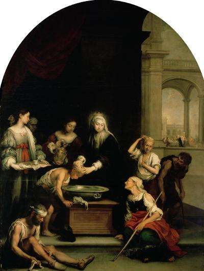 St. Elizabeth of Hungary Tending the Sick and Leprous, circa 1671-74-Bartolome Esteban Murillo-Giclee Print