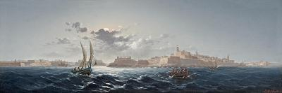 St. Elmo, Valletta, Malta - Moonlight-Luigi Maria Galea-Giclee Print