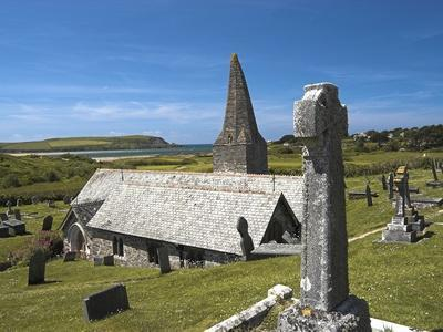 St. Enodoc Church and Cemetery-Nick Lewis-Photographic Print