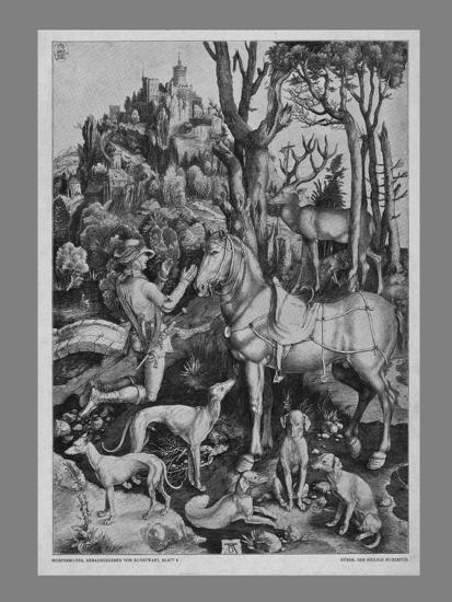 St Eustace, c1501, (19th century)-Unknown-Giclee Print
