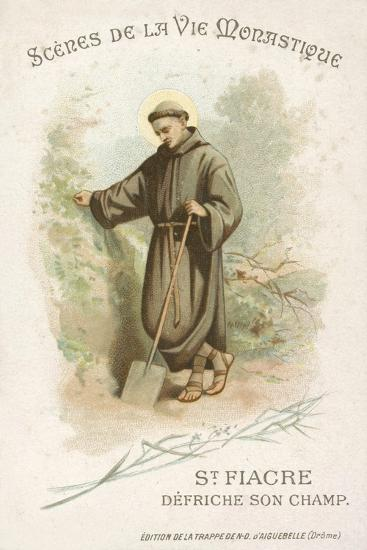 St Fiacre Clearing His Field--Giclee Print