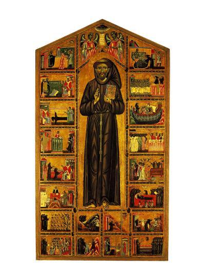 St Francis and Stories of His Life--Giclee Print
