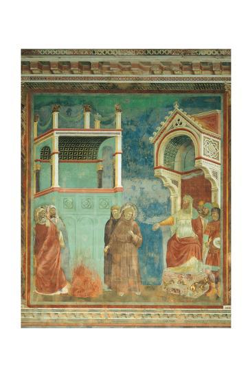 St. Francis before the Sultan-Giotto di Bondone-Art Print